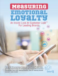Measuring emotional loyalty, customer love score, inte q